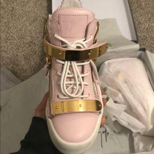 Giuseppe Zanotti pink sneakers.